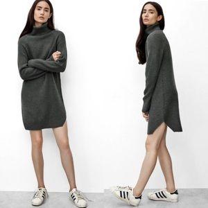 WILFRED FREE Aritzia Bianca Charcoal Sweater Dress
